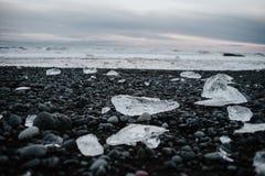 Praia do diamante em Islândia Fotos de Stock