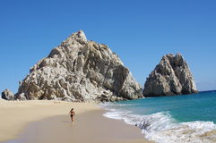 Praia do divórcio em Cabo San Lucas imagens de stock