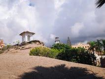 Praia do EL Duque em Costa Adeje Tenerife, Ilhas Canárias, Spain imagem de stock royalty free