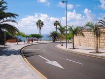 Praia do EL Duque em Costa Adeje Tenerife, Ilhas Canárias, Spain foto de stock