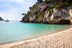 Praia do en Turqueta Turqueta de Cala em Menorca, Espanha Fotos de Stock