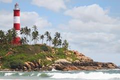 Praia do farol Fotografia de Stock