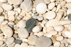 A praia do fim de semana da Espanha textures as pedras 4 do fundo Fotografia de Stock Royalty Free