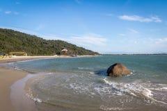 Praia do Forte Beach - Florianopolis, Santa Catarina, Brazil. Praia do Forte Beach in Florianopolis, Santa Catarina, Brazil stock photo