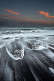 Praia do gelo de Islândia Imagem de Stock