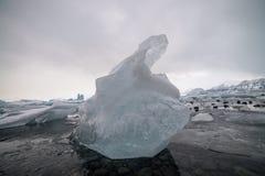 Praia do gelo, Islândia, cor azul Fotos de Stock Royalty Free