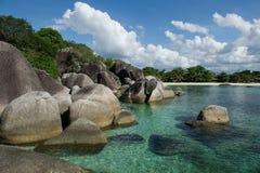 Praia do granito em Belitung 1 Fotos de Stock Royalty Free