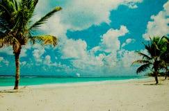 Praia do Grunge imagens de stock