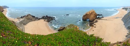Praia do Guincho Santa Cruz, Πορτογαλία Στοκ εικόνα με δικαίωμα ελεύθερης χρήσης