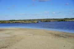 Praia do hernando de Florida: terra molhada Imagem de Stock