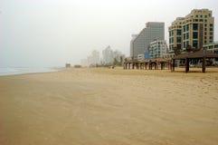 Praia do inverno fotografia de stock