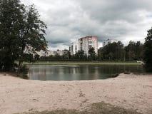 Praia do lago Imagem de Stock