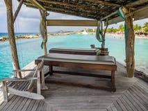 Praia do Mambo - camas da massagem Imagem de Stock