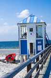 Praia do mar Báltico do cais Fotografia de Stock