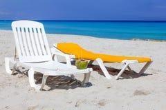 Praia do mar das caraíbas Imagens de Stock