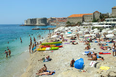 Praia do mar de Banje em Dubrovnik Imagens de Stock