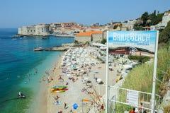 Praia do mar de Banje em Dubrovnik Fotografia de Stock