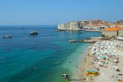 Praia do mar de Banje em Dubrovnik Fotografia de Stock Royalty Free