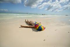 Praia do mar do Cararibe Fotografia de Stock
