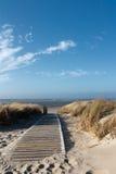 Praia do Mar do Norte em Langeoog Fotografia de Stock