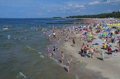 Praia do mar em Kolobrzeg Imagens de Stock