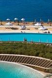 Praia do mar inoperante - Jordão fotografia de stock