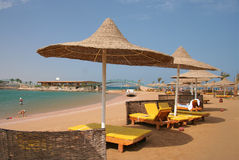 Praia do Mar Vermelho Foto de Stock