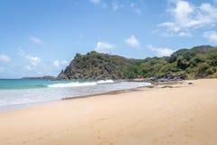 Praia do Meio Beach - Fernando de Noronha, Pernambuco, Brazilië stock fotografie