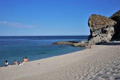 Praia do Muertos de Carboneras Almeria Andalusia Spain imagem de stock royalty free