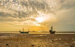 Praia do nascer do sol, Pranburi Fotografia de Stock