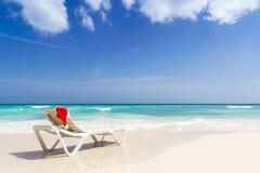Praia do Natal - férias foto de stock