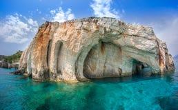 Praia do naufrágio de Navagio - uma da praia a mais famosa no wo Fotos de Stock Royalty Free