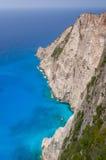 Praia do naufrágio de Navagio - uma da praia a mais famosa no wo Imagem de Stock