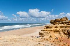Praia do Norte, Nazare (Portugal) Royalty Free Stock Images