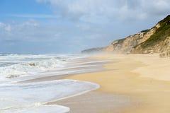 Praia do Norte, Nazare (Portugal) Stock Images