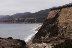 Praia do oceano e ponto Reyes California dos penhascos Fotografia de Stock