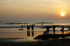 Praia do oceano em Ásia imagem de stock royalty free