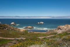 Praia do oceano em San Francisco Imagem de Stock