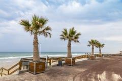 Praia do oceano na costa atlântica de França perto do Lacanau-oceano, Imagens de Stock