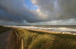 Praia do outono Foto de Stock Royalty Free