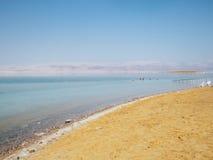 Praia do público de Ein Bokek foto de stock