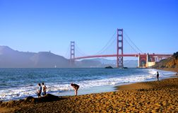 Praia do padeiro, San Francisco fotografia de stock