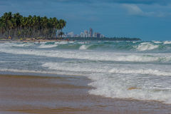 Praia do Paiva, Pernambuco - Brazil. Paiva Beach its a beach in the Cabo de Santo Agostinho municipality in Pernambuco's state. Its landscape is made up of a Royalty Free Stock Images