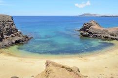 A praia do papagayo Foto de Stock Royalty Free