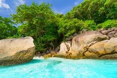 Praia do paraíso de ilhas de Similan Fotos de Stock Royalty Free