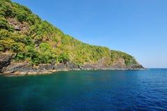 Praia do paraíso de ilhas de Similan, Tailândia Fotos de Stock