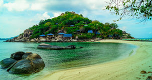 Praia do paraíso de Koh Tao Imagens de Stock