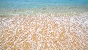 Praia do paraíso em Mykonos, Grécia Imagens de Stock