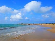 Praia do paraíso nas Caraíbas Fotografia de Stock