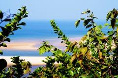 Praia do paraíso no Maharashtra Fotografia de Stock